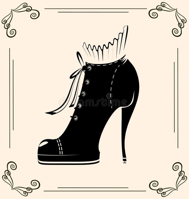 Del vintage zapato semi stock de ilustración