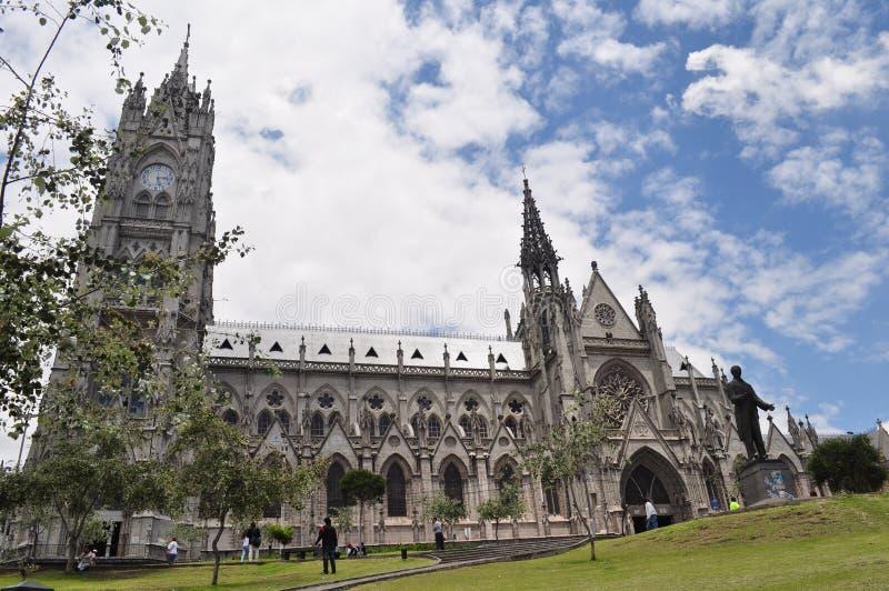 Del Voto Nacional, Quito, Ecuador de la basílica fotos de archivo