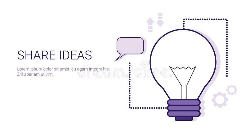 Dela banret för rengöringsduken för idéaffärsidémallen med kopieringsutrymme vektor illustrationer