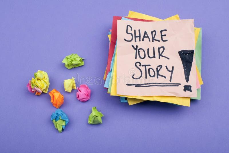 Dela din berättelse royaltyfri bild