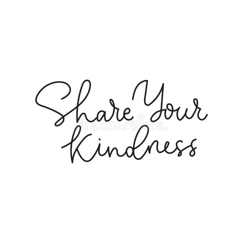 Dela din vänlighet med positiv utskrift med text royaltyfri bild
