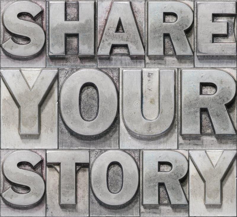 Dela ditt berättelsekvarter royaltyfri bild