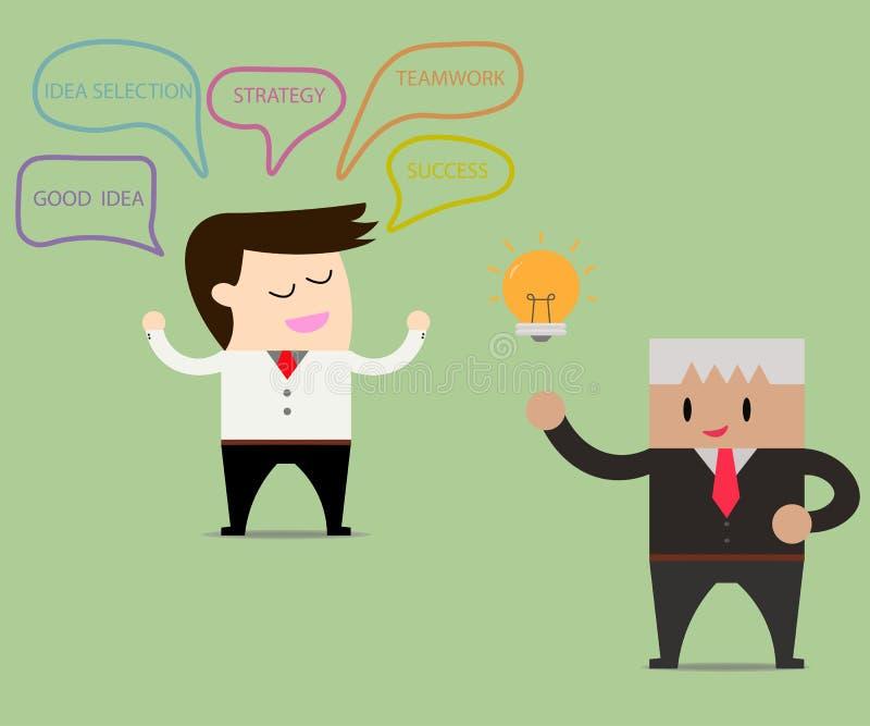 dela för affärsmanidéer royaltyfri illustrationer