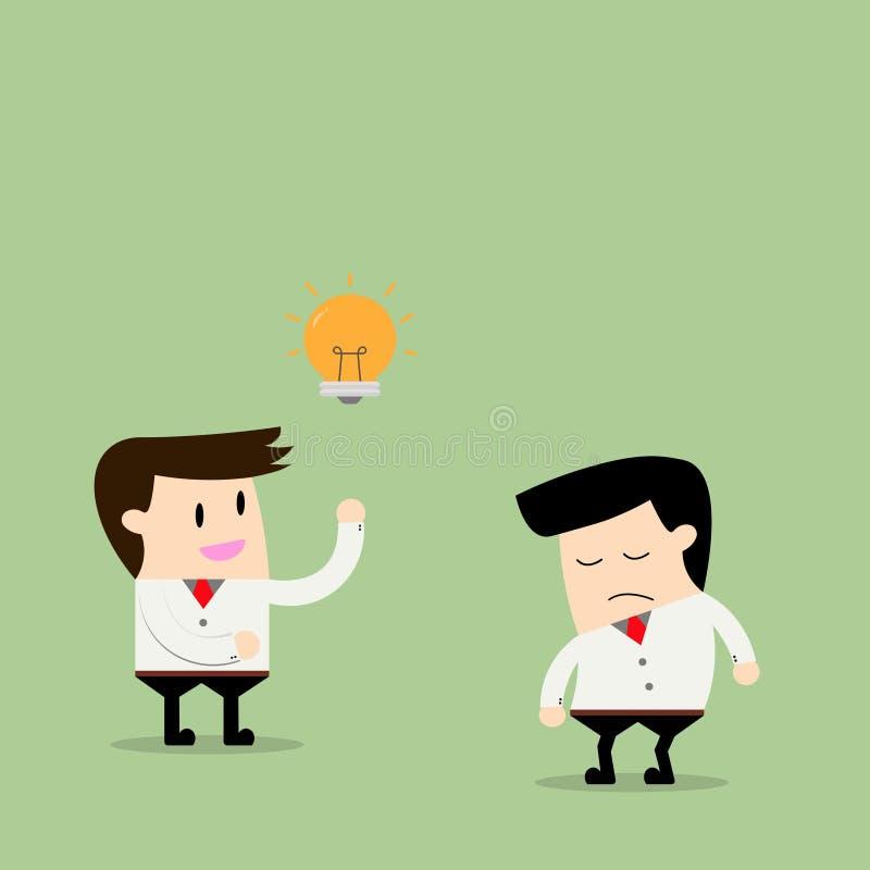 dela för affärsmanidéer stock illustrationer