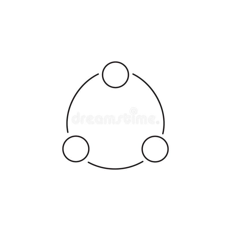Dela linjen symbolen, illustration för översiktsvektorlogo royaltyfri illustrationer