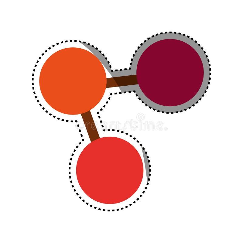 Dela socialt symbol vektor illustrationer
