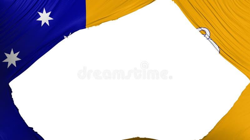 Delad Canberra flagga vektor illustrationer