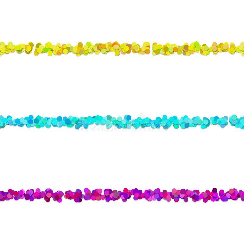 Delande linje designuppsättning för Repeatable avsnitt för prickmodell royaltyfri illustrationer
