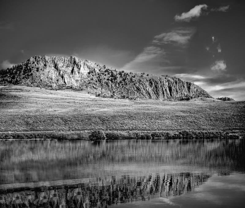 Delaney Butte Lake sul imagem de stock
