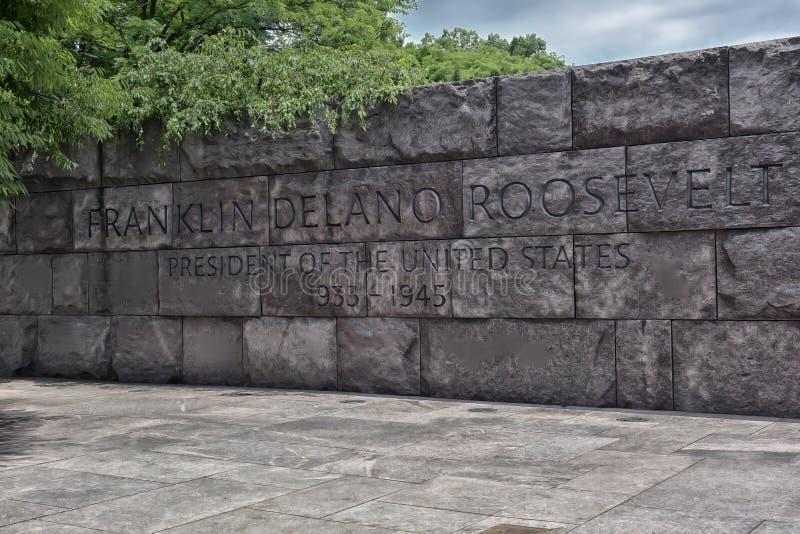 delano Franklin pamiątkowa ceduła Roosevelt obraz stock