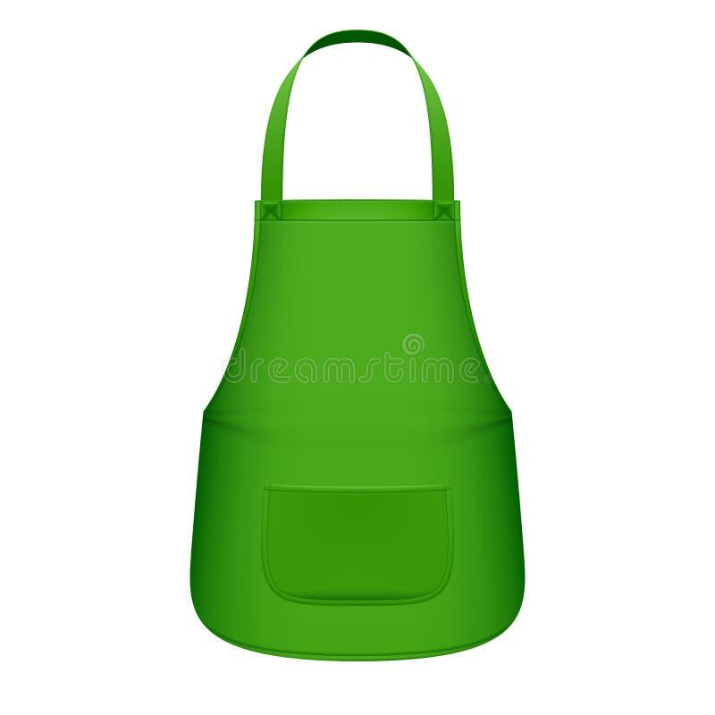 Delantal verde de la cocina ilustración del vector