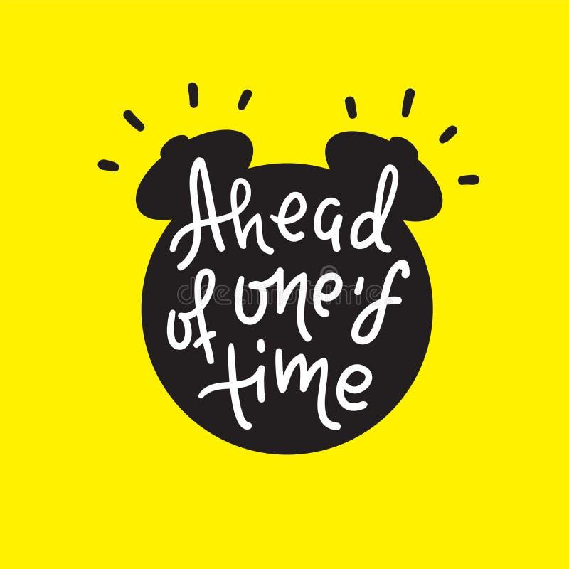 Delante de su tiempo - inspirar cita de motivación libre illustration