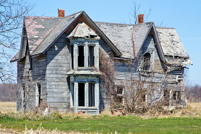 Delapidated, Gnije Do domu zdjęcia stock