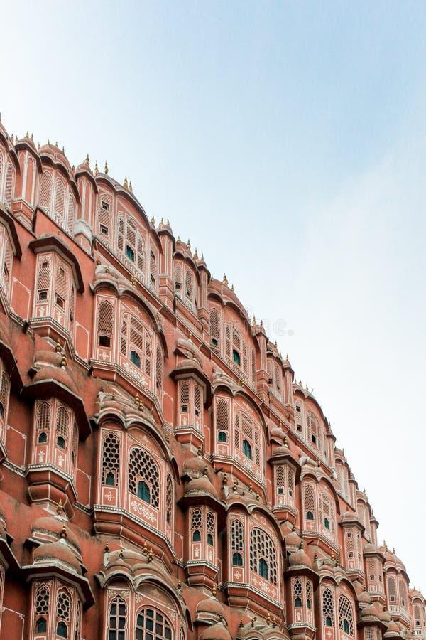 Delar av Hawa Mahal, Jaipur arkivbild