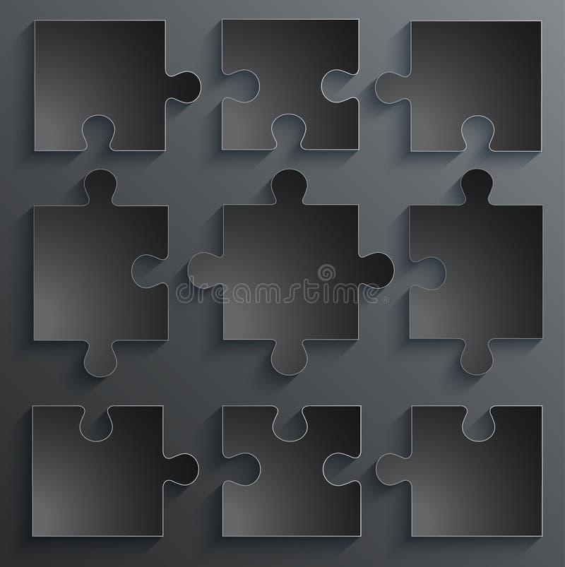 Delar av pappers- pussel. Affärsidé mall vektor illustrationer