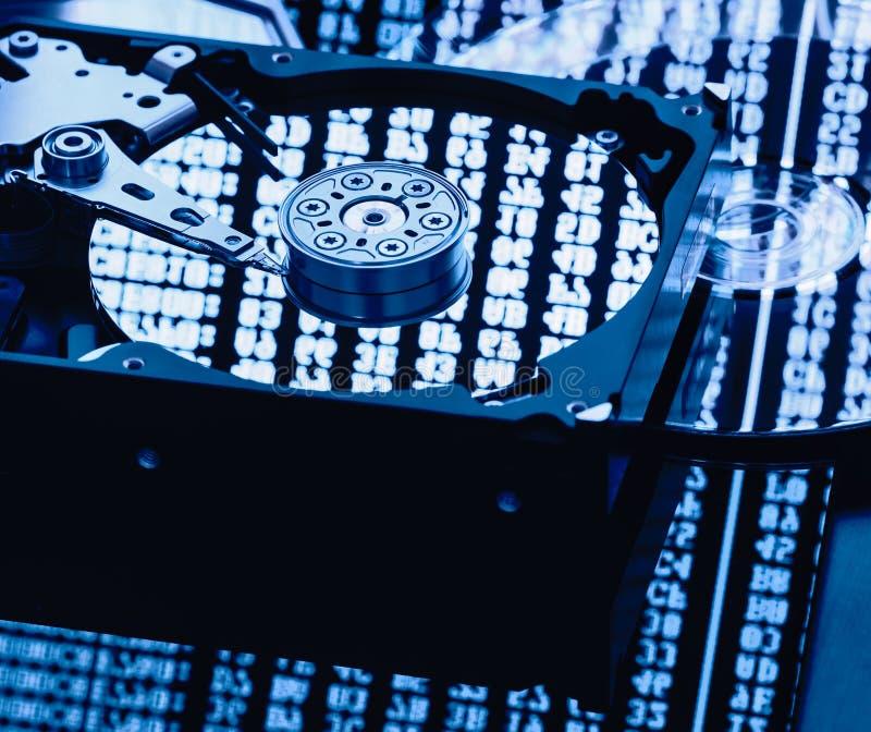 Delar för dator för datalagring royaltyfria bilder