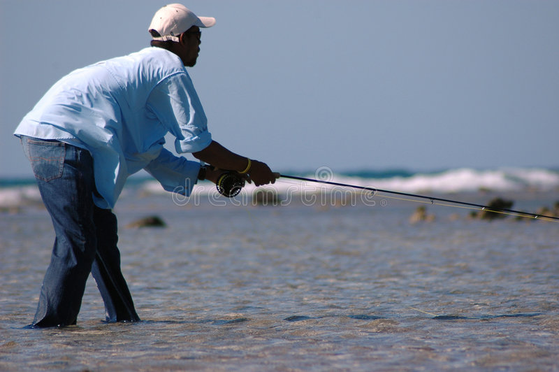 delar för fiskare arkivbilder
