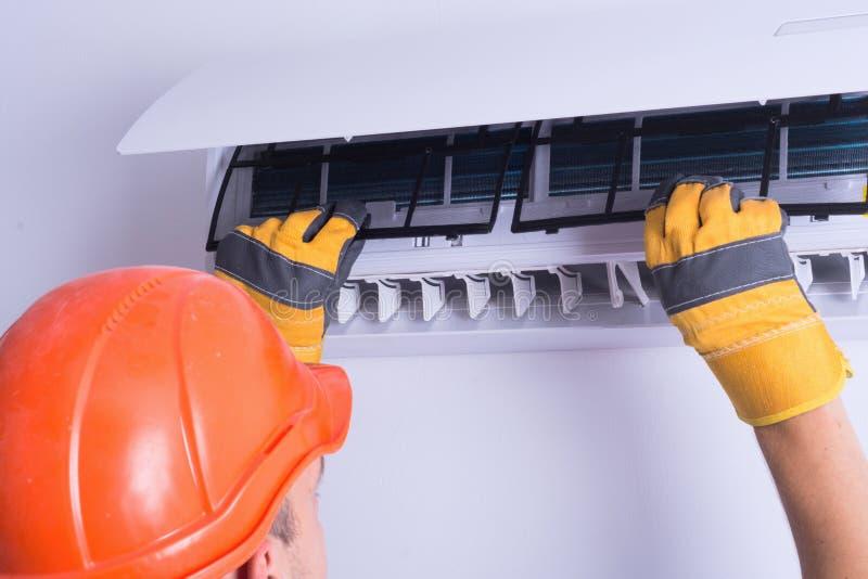 delat system för luftkonditioneringsapparatillustration arkivfoto