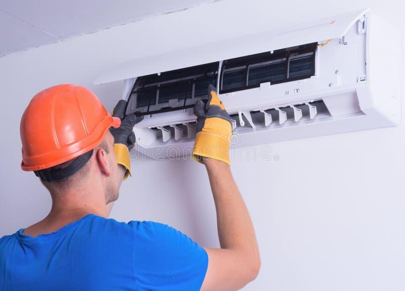 delat system för luftkonditioneringsapparatillustration royaltyfri fotografi