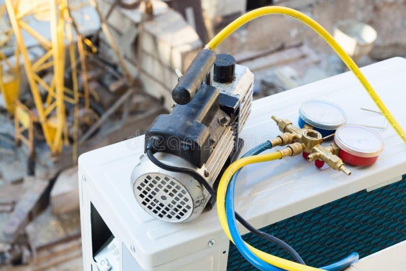 delat system för luftkonditioneringsapparatillustration royaltyfria foton
