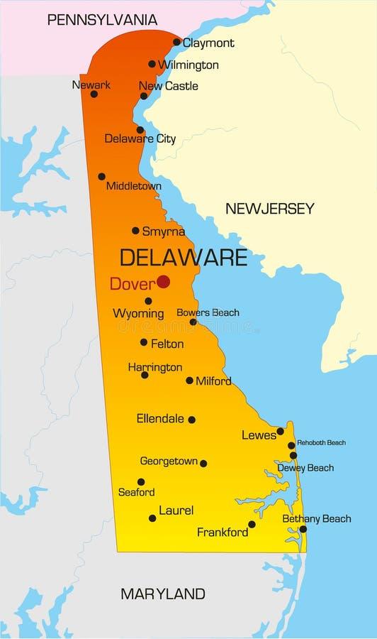 Delaware vektor illustrationer
