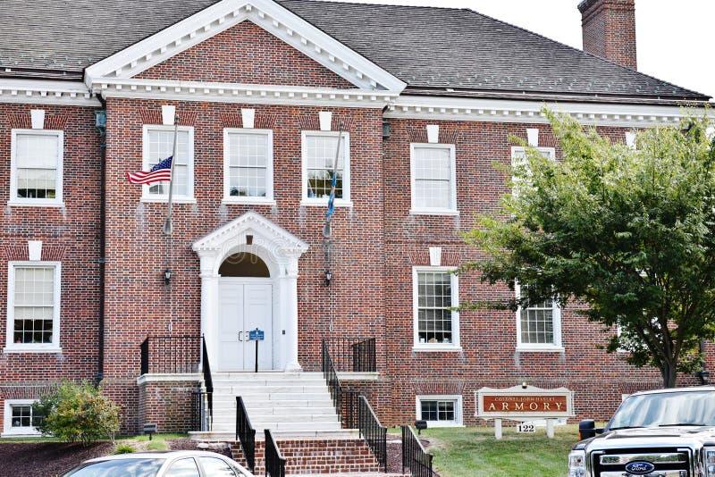 Delaware arsenalbyggnad i dover royaltyfri foto