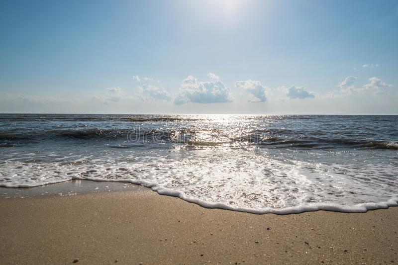 Delaware Bay Shore. A scene from the shore of the Delaware Bay in New Jersey on a sunny spring day stock photos