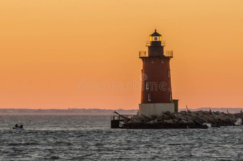 Delaware Breakwater Lighthouse stock photography