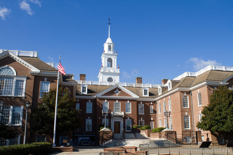 Delaware Capital Building. Delaware state capital building located in the city of Dover, DE stock image