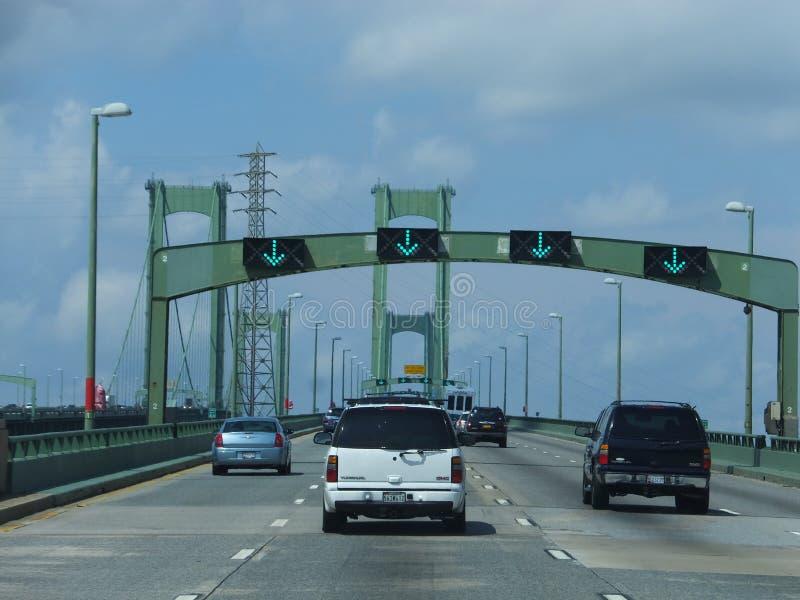 Delaware-Denkmalbrücke stockfoto
