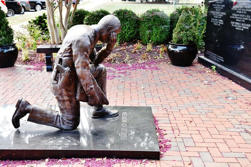 Delaware dover law enforcement memorial. Delaware Law Enforcement Memorial dedicated for those police officers ,who lost their life for peaceful sky of the stock photos