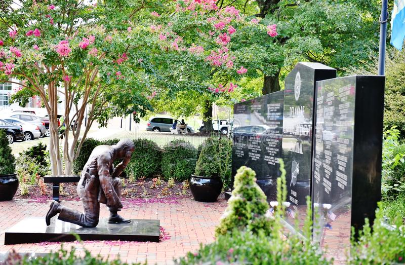 Delaware dover law enforcement memorial. Delaware Law Enforcement Memorial dedicated for those police officers ,who lost their life for peaceful sky of the stock photography