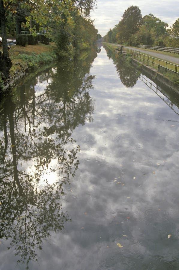 Delaware e canal de Raritan na rota cênico 29, NJ fotografia de stock royalty free