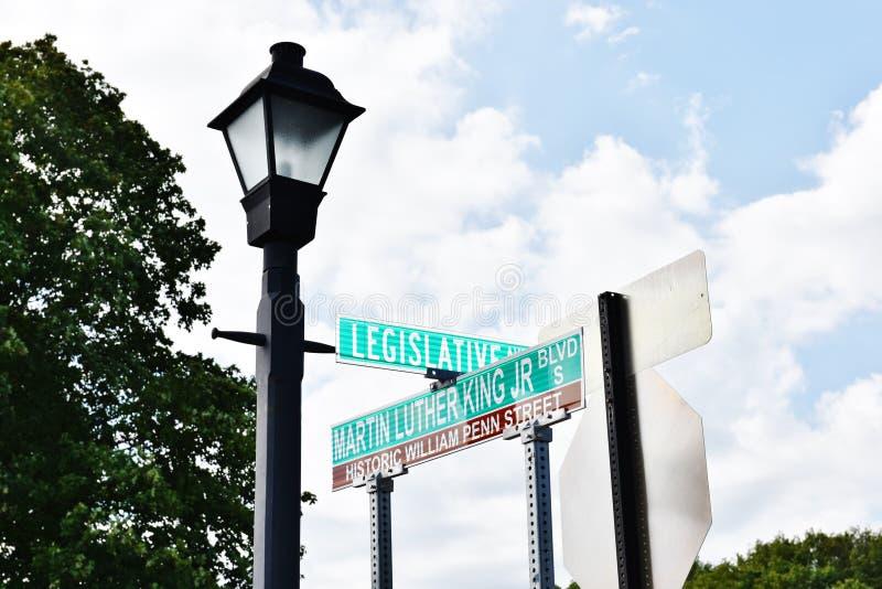 Delaware för Dover Martin Luther King jrblvd stat USA royaltyfri fotografi