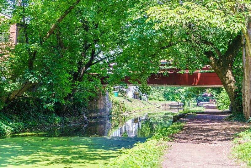 Delaware kanaldragväg, nytt hopp, PA royaltyfri fotografi