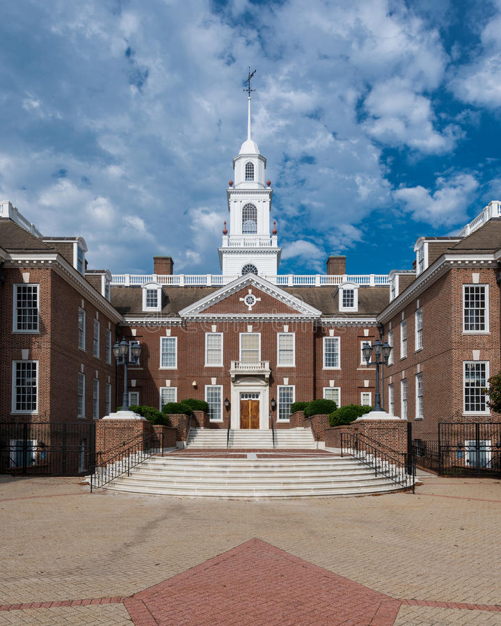 Delaware Legislative Hall. In Dover, Delaware on July 20, 2015 royalty free stock image