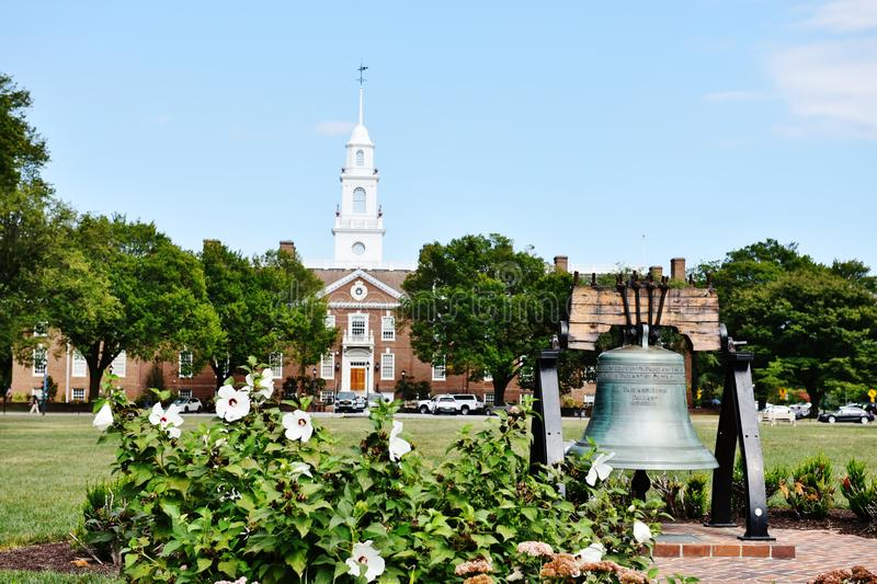 Delaware legislative hall liberty bell dover. Dover is the capitol of Delaware state of USA, is great historical landmark from the end of 18 century ,many stock photography