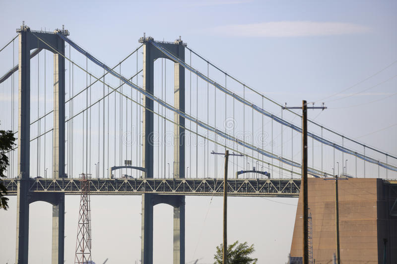Delaware Memorial Bridge. Image of the Delaware Memorial Bridge stock images
