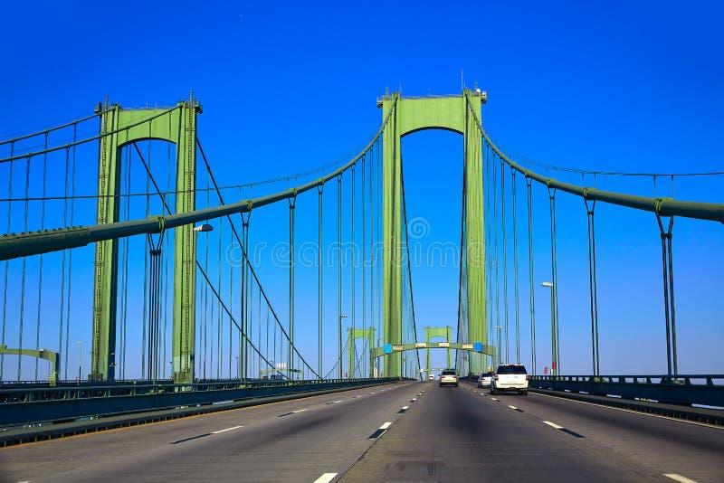 Delaware memorial bridge road in USA. US stock images