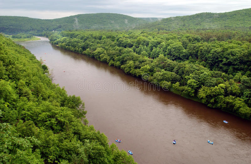 Delaware River. Rafting, floating on the Delaware River stock photos