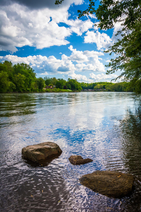 The Delaware River, north of Easton, Pennsylvania. The Delaware River, north of Easton, Pennsylvania stock images