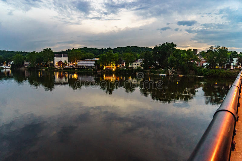 Delaware river at summer from Historic New Hope, PA. USA stock photo
