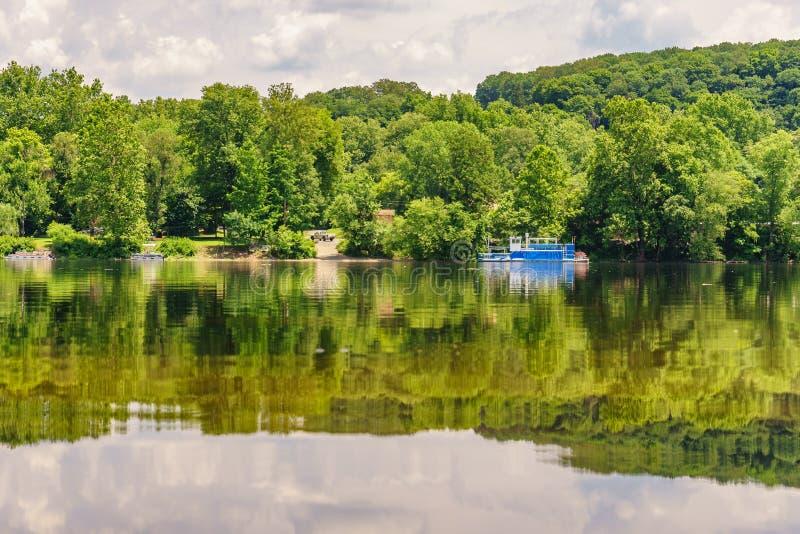 Delaware rzeka przy latem od Historycznej Nowej nadziei, PA zdjęcia royalty free