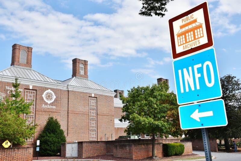 Delaware statallmänhet arkiverar dover arkivbild