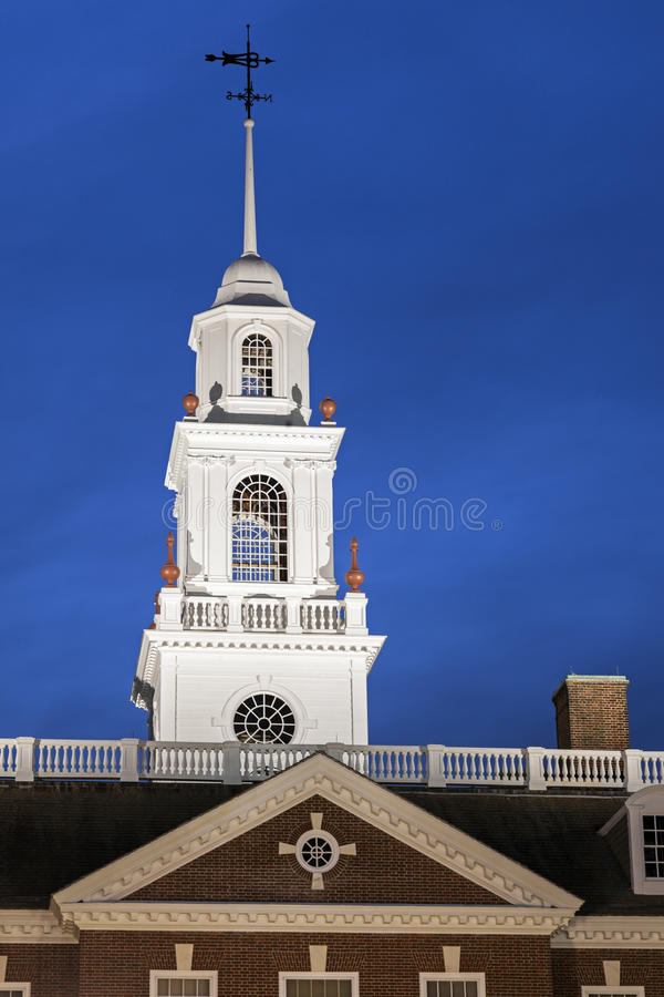 Delaware State Capitol Building in Dover. Dover, Delaware, USA royalty free stock photo