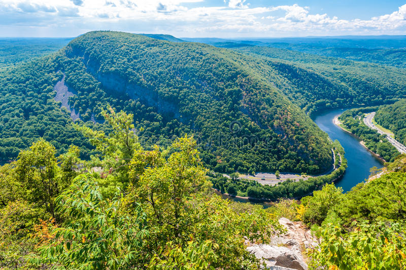 Delaware Water Gap. View from Mt. Tammany, New Jersey side stock image