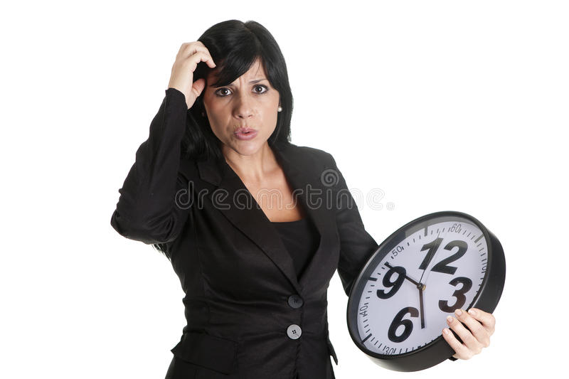 Download Delay businesswoman stock photo. Image of portrait, isolated - 27915596