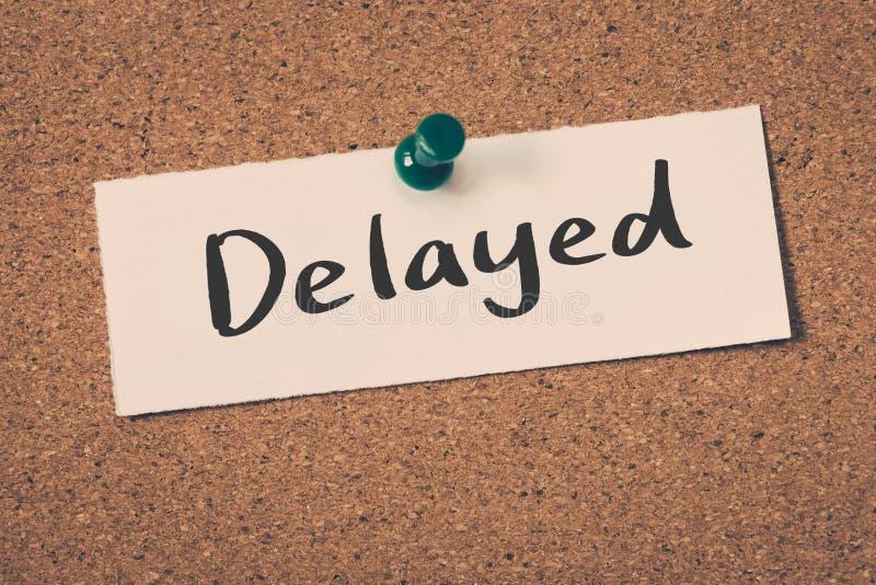 delayed fotografie stock