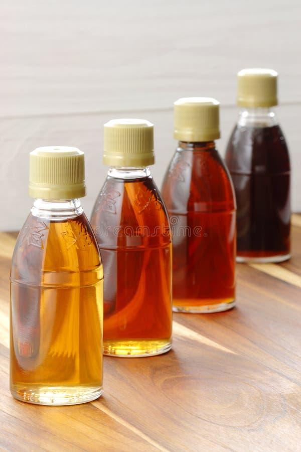 Delcious maple syrup stock photos
