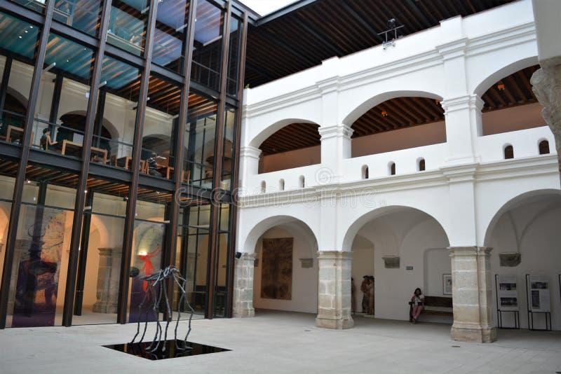 DelClaustro för El inre del Museo en Oaxaca arkivfoton